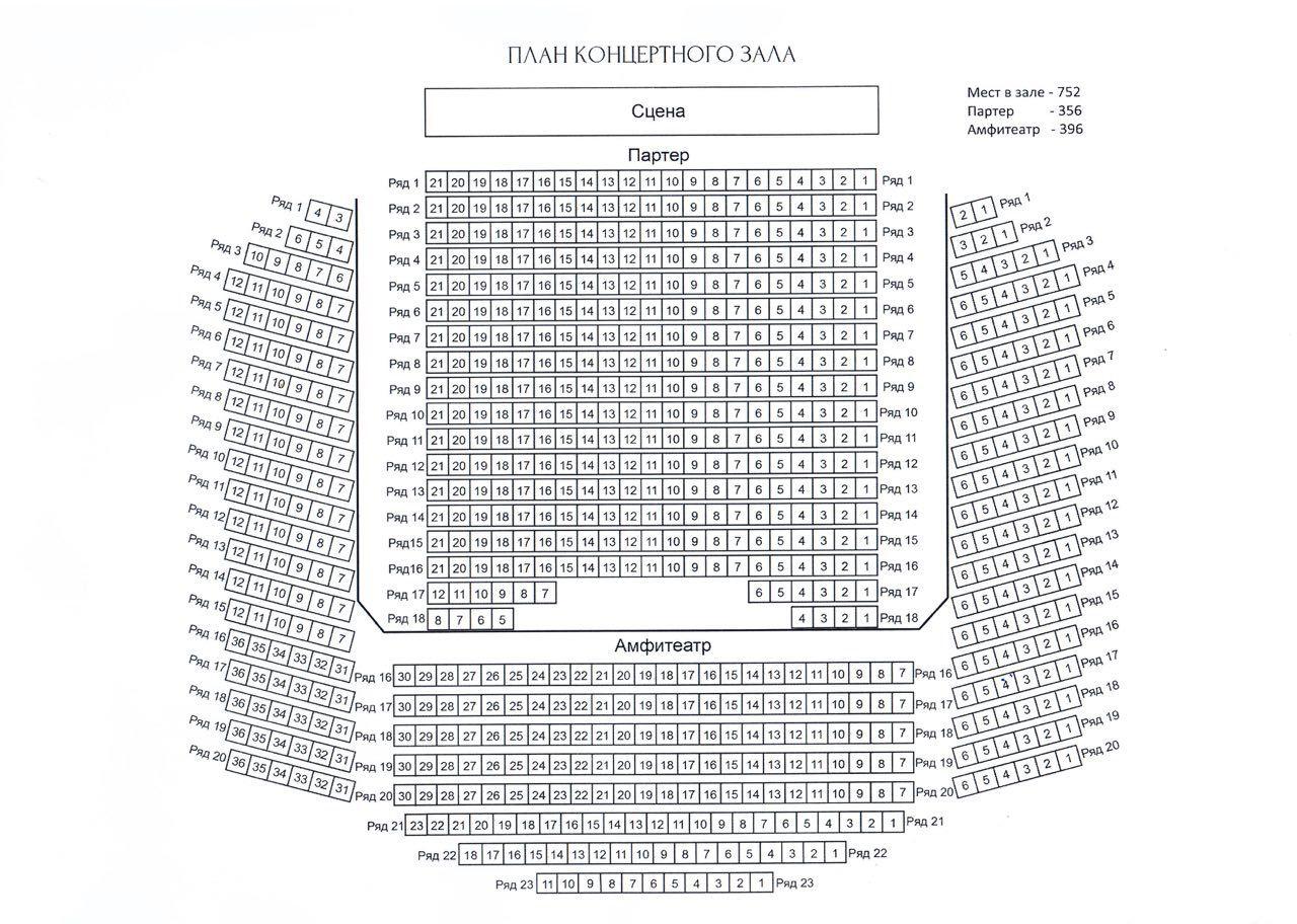 Концертный зал королевский схема зала фото 485